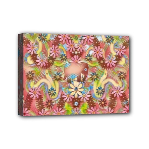 Jungle Life And Paradise Apples Mini Canvas 7  X 5