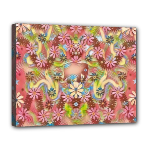 Jungle Life And Paradise Apples Canvas 14  x 11