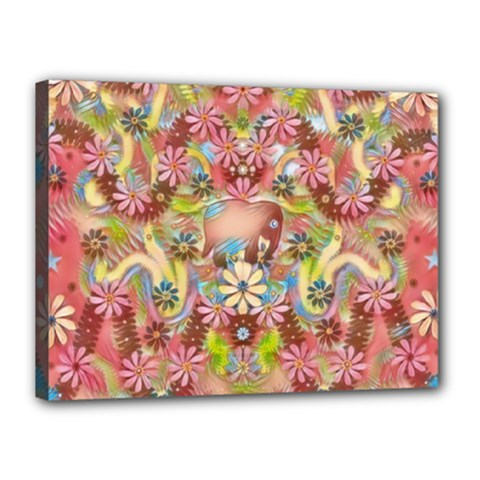 Jungle Life And Paradise Apples Canvas 16  x 12