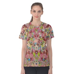 Jungle Life And Paradise Apples Women s Cotton Tee