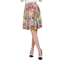 Jungle Life And Paradise Apples A-Line Skirt