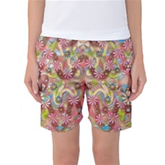 Jungle Life And Paradise Apples Women s Basketball Shorts