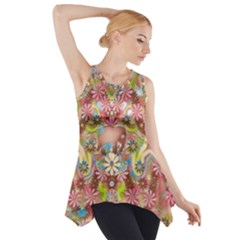 Jungle Life And Paradise Apples Side Drop Tank Tunic
