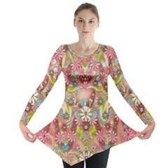Jungle Life And Paradise Apples Long Sleeve Tunic