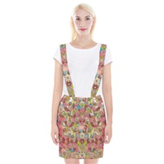 Jungle Life And Paradise Apples Suspender Skirt