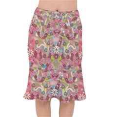 Jungle Life And Paradise Apples Mermaid Skirt