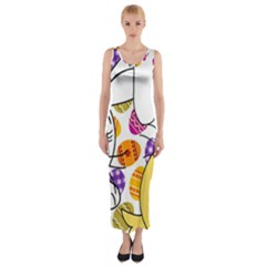 Easter bunny and chick  Fitted Maxi Dress