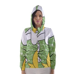Easter bunny and chick  Hooded Wind Breaker (Women)