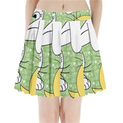 Easter bunny and chick  Pleated Mini Skirt