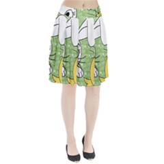 Easter bunny and chick  Pleated Skirt