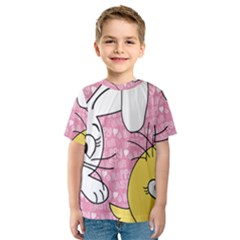 Easter bunny and chick  Kids  Sport Mesh Tee