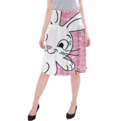 Easter bunny and chick  Midi Beach Skirt
