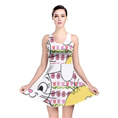 Easter bunny and chick  Reversible Skater Dress