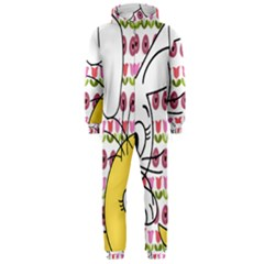 Easter bunny and chick  Hooded Jumpsuit (Men)