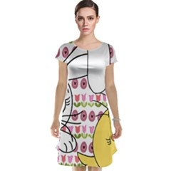 Easter bunny and chick  Cap Sleeve Nightdress