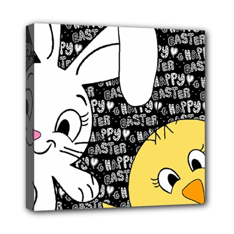 Easter bunny and chick  Mini Canvas 8  x 8