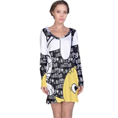 Easter bunny and chick  Long Sleeve Nightdress