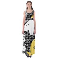 Easter bunny and chick  Empire Waist Maxi Dress