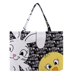 Easter bunny and chick  Medium Tote Bag