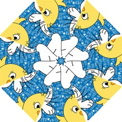 Easter bunny and chick  Hook Handle Umbrellas (Large)