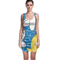 Easter bunny and chick  Sleeveless Bodycon Dress