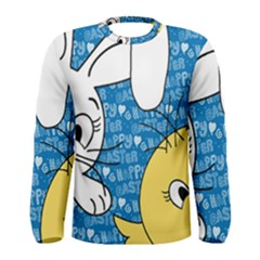 Easter bunny and chick  Men s Long Sleeve Tee