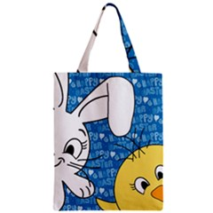Easter bunny and chick  Zipper Classic Tote Bag
