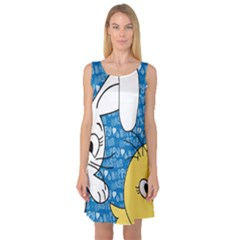 Easter bunny and chick  Sleeveless Satin Nightdress