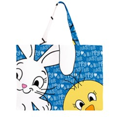 Easter bunny and chick  Large Tote Bag