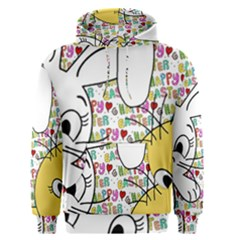 Easter bunny and chick  Men s Pullover Hoodie