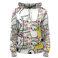 Easter bunny and chick  Women s Pullover Hoodie
