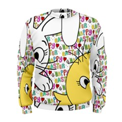 Easter bunny and chick  Men s Sweatshirt