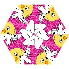 Easter bunny and chick  Mini Folding Umbrellas