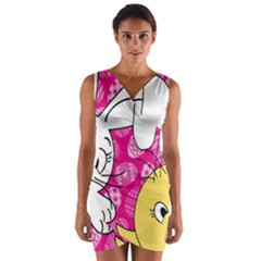 Easter bunny and chick  Wrap Front Bodycon Dress