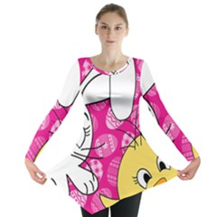 Easter Bunny And Chick  Long Sleeve Tunic