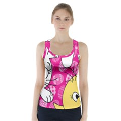 Easter bunny and chick  Racer Back Sports Top