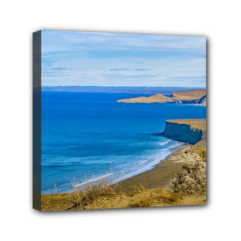 Seascape View From Punta Del Marquez Viewpoint, Chubut, Argentina Mini Canvas 6  x 6