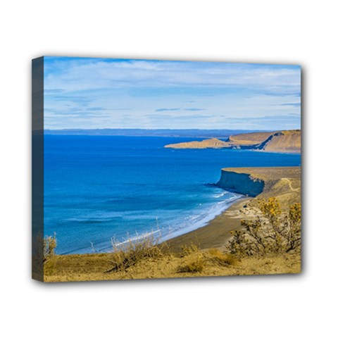 Seascape View From Punta Del Marquez Viewpoint, Chubut, Argentina Canvas 10  x 8
