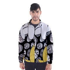 Easter bunny and chick  Wind Breaker (Men)