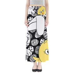 Easter bunny and chick  Maxi Skirts
