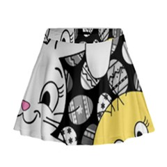 Easter bunny and chick  Mini Flare Skirt