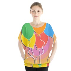 Birthday Party Balloons Colourful Cartoon Illustration Of A Bunch Of Party Balloon Blouse