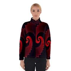 Red Fractal Spiral Winterwear