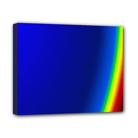 Blue Wallpaper With Rainbow Canvas 10  x 8