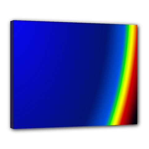 Blue Wallpaper With Rainbow Canvas 20  x 16