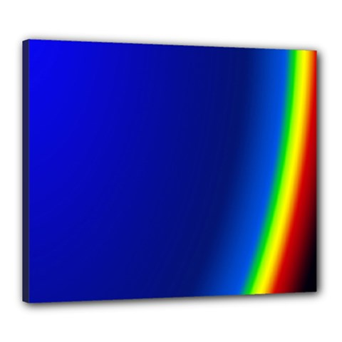 Blue Wallpaper With Rainbow Canvas 24  x 20