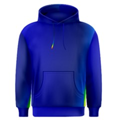 Blue Wallpaper With Rainbow Men s Pullover Hoodie