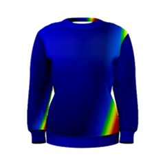 Blue Wallpaper With Rainbow Women s Sweatshirt