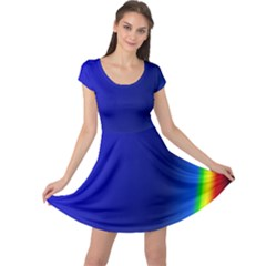 Blue Wallpaper With Rainbow Cap Sleeve Dresses