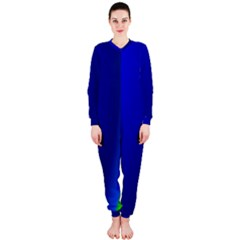 Blue Wallpaper With Rainbow OnePiece Jumpsuit (Ladies)